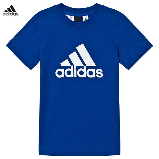 adidas Performance Navy Logo Tee COLLEGIATE ROYAL/WHITE