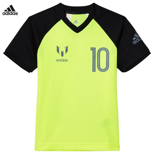 adidas Performance Yellow Messi Icon Tee SOLAR YELLOW/BLACK