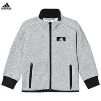 adidas Performance Grey Full Zip Track Top MEDIUM GREY HEATHER/MEDIUM GREY HEATHER/BLACK