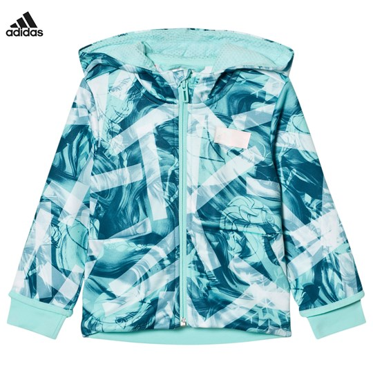 adidas Performance Disney Frozen Full Zip Hoodie WHITE/ENERGY AQUA F17/MYSTERY PETROL F17