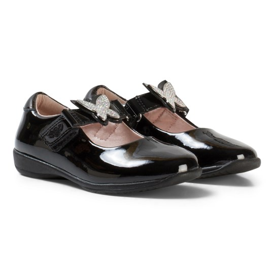 Lelli Kelly Angel Dolly Black Patent Shoes BLACK PATENT