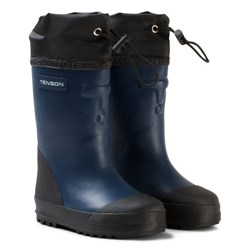 Tenson Muggy Lined Wellies Blue