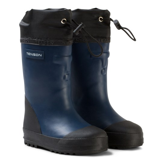 Tenson Muggy Lined Wellies Blue Blue