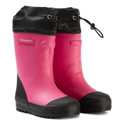 Tenson Muggy Lined Wellies Cerise