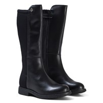Stuart Weitzman Black Leather 50/50 Tall Boots Black