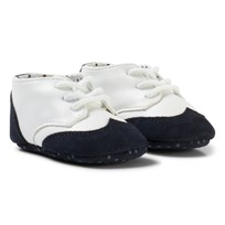 United Colors of Benetton Leather Look Shoes With Faux Suede Trims Navy&White NAVY&WHITE