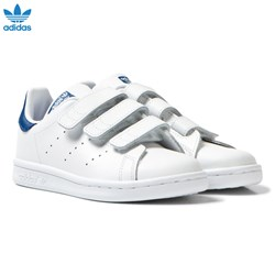 adidas Originals Kids Stan Smith Trainers White and Blue