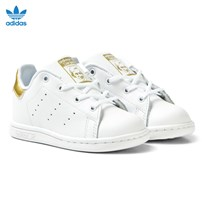 adidas Originals White and Gold Infants Stan Smith Trainers FTWR WHITE