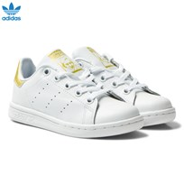 adidas Originals Kids Stan Smith Trainers White and Gold FTWR WHITE