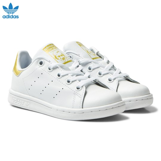 adidas Originals Kids Stan Smith Trainers Guld och Vit FTWR WHITE
