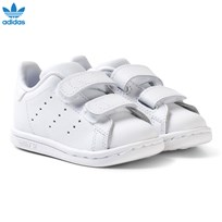 adidas Originals All White Stan Smith Infants Velcro Sneakers FTWR WHITE