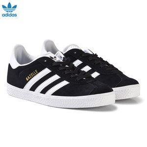 Image of adidas Originals Black and White Gazelle Kids Trainers 30 (UK 11.5) (3125360249)