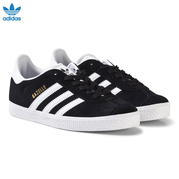 adidas Originals Gazelle Barn Sko Svart og Hvit Babyshop.no