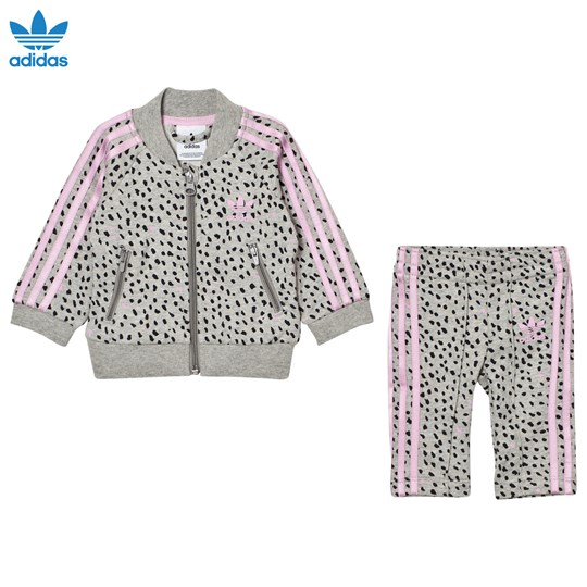 adidas Originals Infants SST Tracksuit Medium Grey Heather/Frost Pink MEDIUM GREY HEATHER/FROST PINK F14