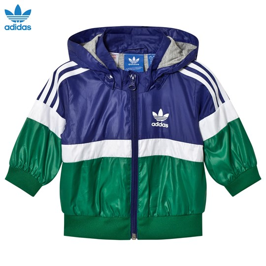 adidas Originals Navy Infants Logo Windbreaker MYSTERY INK F17/SUB GREEN S13/WHITE