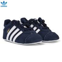 adidas Originals Navy Gazelle Crib Shoes COLLEGIATE NAVY/FTWR WHITE/GOLD MET.
