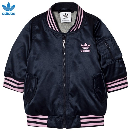 adidas Originals Navy Infants Nomad Bomber Jacket LEGEND INK F17/FROST PINK F14/MEDIUM GREY HEATHER