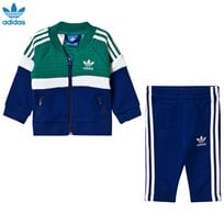 adidas Originals Infant Tracksuit Green/Blue SUB GREEN S13/WHITE/MYSTERY INK F17