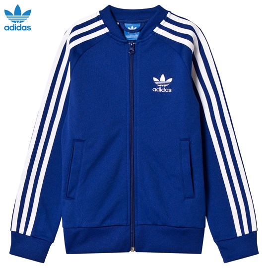 adidas Originals Blue Junior Track Top MYSTERY INK F17/WHITE