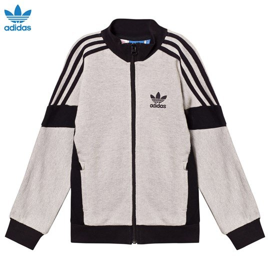 adidas Originals Branded Track Jacka Grå MEDIUM GREY HEATHER/BLACK