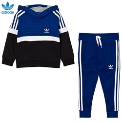 adidas Originals Kids Trefoil Hooded Tracksuit Blue/White/Black