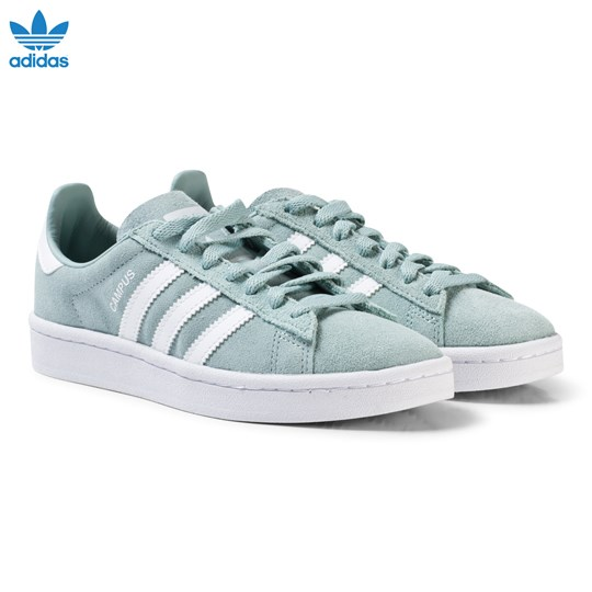adidas Originals Green Junior Campus Trainers TACTILE GREEN S17/FTWR WHITE/FTWR WHITE
