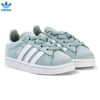adidas Originals Green Infants Campus Trainers TACTILE GREEN S17/FTWR WHITE/FTWR WHITE
