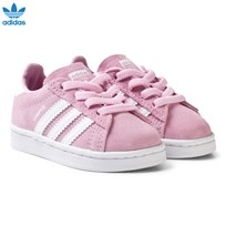 adidas Originals Pink Infant Campus Trainers FROST PINK F14/FTWR WHITE/FTWR WHITE