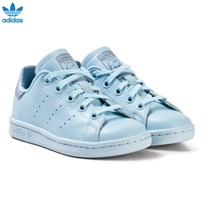 adidas Originals Blue Kids Stan Smith Trainers ICEY BLUE F17/ICEY BLUE F17/TACTILE BLUE S17