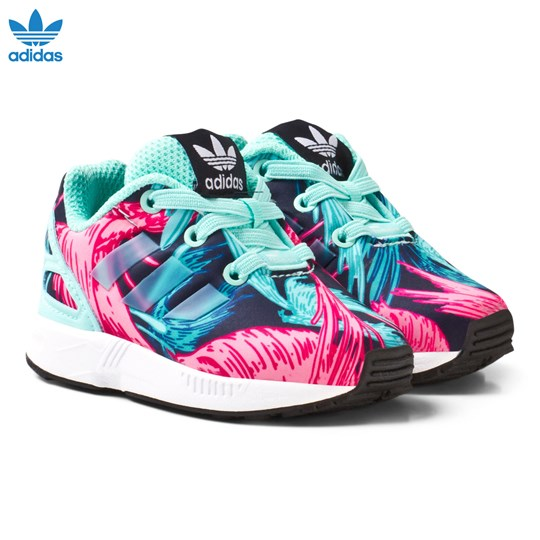 50fb5c3c1 adidas Originals Aqua ZX Flux Infant Trainers ENERGY AQUA F17 ENERGY AQUA  F17 FTWR
