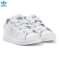 adidas Originals White and Mint Green Infants Stan Smith Trainers FTWR WHITE/FTWR WHITE/TACTILE GREEN S17