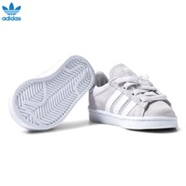 adidas Originals Grey Infants Campus Sneakers GREY ONE F17/FTWR WHITE/FTWR WHITE