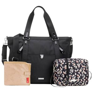 Image of Storksak Cleo + Mini-Fix Changing Bag Black One Size (786524)