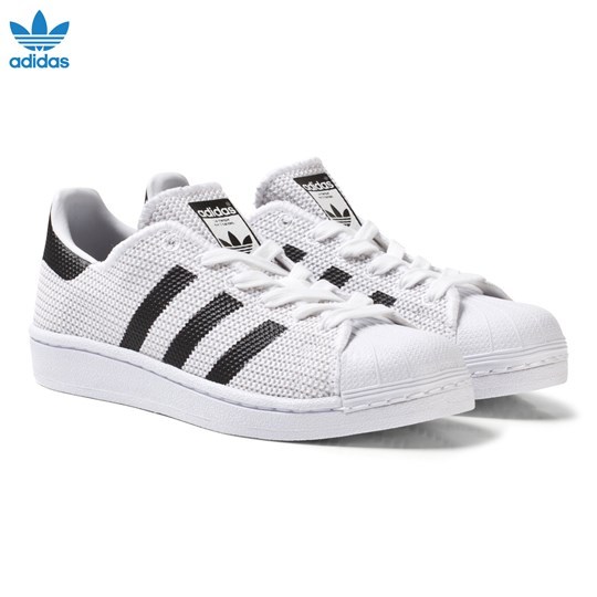 adidas Originals White and Black Superstar Junior Trainers FTWR WHITE/CORE BLACK/CORE BLACK