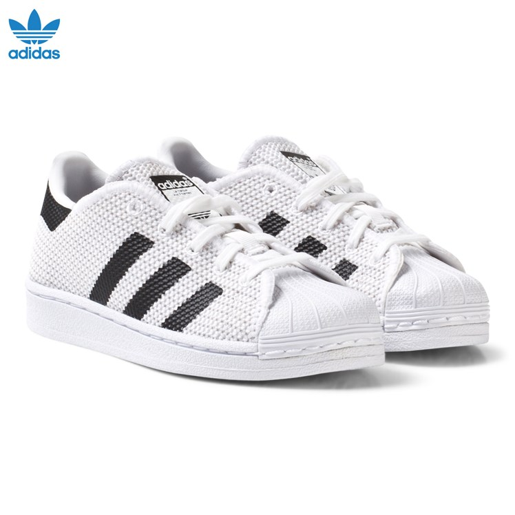 adidas Originals White and Black Superstar Kids Trainers