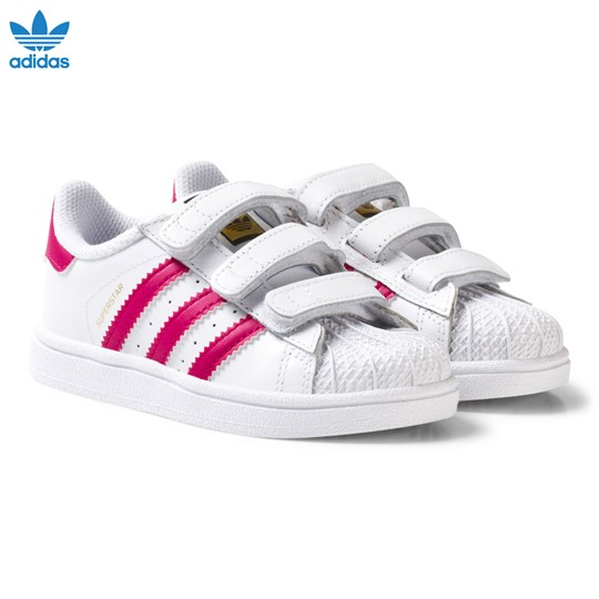 adidas Originals White and Pink Superstar Infant Trainers FTWR WHITE/BOLD PINK/FTWR WHITE