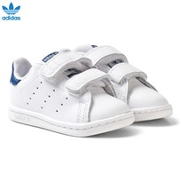 adidas Originals White and Blue Stan Smith Infant Trainers FTWR WHITE/FTWR WHITE/EQT YELLOW S16