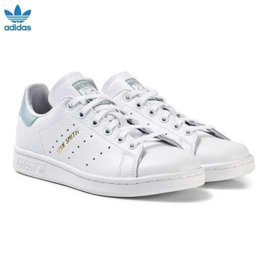 adidas Originals Junior Stan Smith Trainers White and Mint Green FTWR WHITE/FTWR WHITE/TACTILE GREEN S17