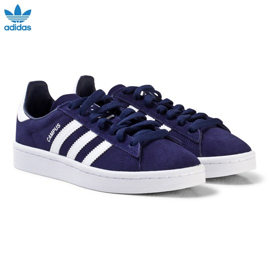 adidas Originals Navy Junior Campus Trainers DARK BLUE/FTWR WHITE/FTWR WHITE
