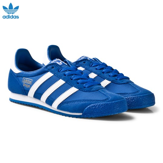 adidas Originals Blue and White Dragon Junior Trainers BLUE/FTWR WHITE/BLUE