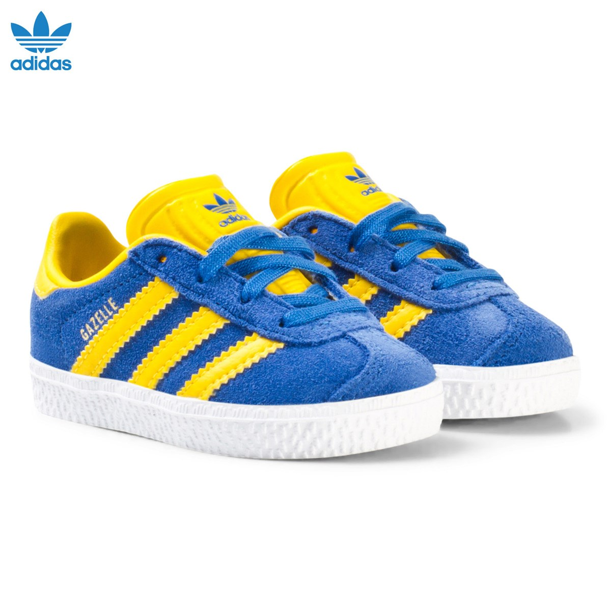adidas Originals Blue and Yellow Gazelle Infant Trainers