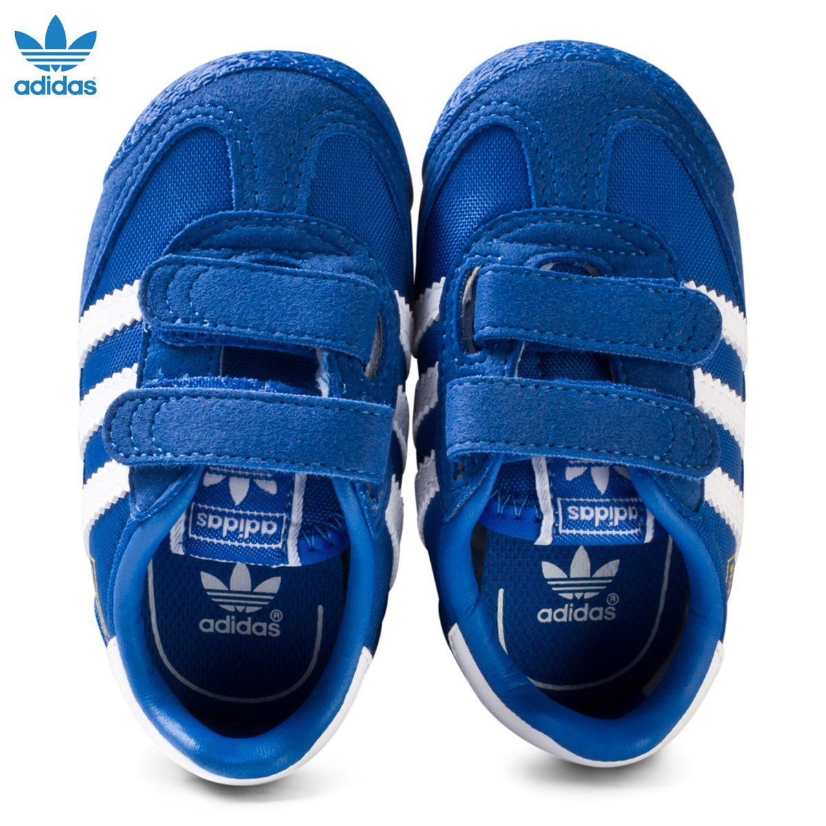 adidas Originals - Blue and White Dragon Infant Trainers ...