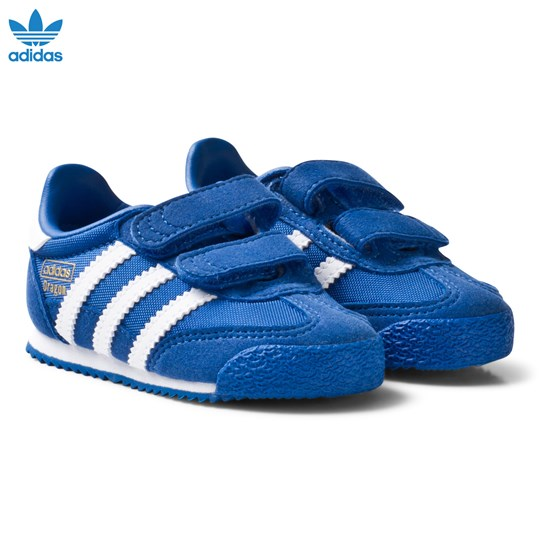 adidas Originals Blue and White Dragon Infant Trainers BLUE/FTWR WHITE/BLUE