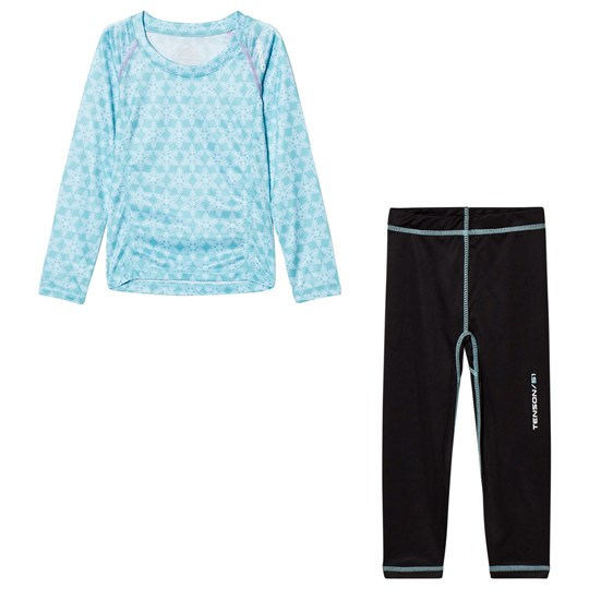 Tenson Thermal Set Ice Jam Print Light Blue Blue