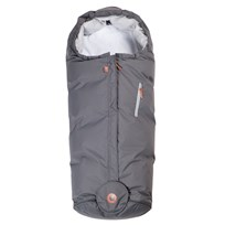 Easygrow Hood Footmuff Grey Solid Black