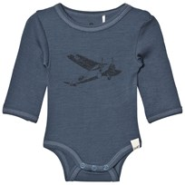 Celavi Wool Baby Body Navy Navy