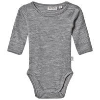 Wheat Baby Body Grå Melange Grey
