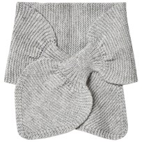 Wheat Knitted Baby Scarf Melange Grey Melange Grey