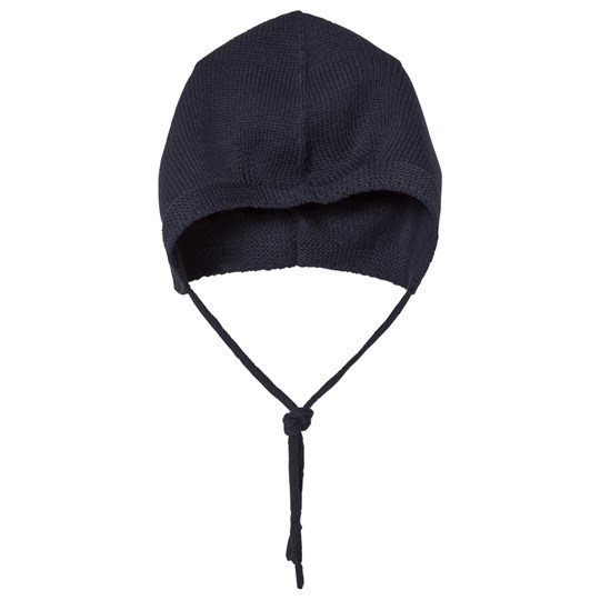 Wheat Knitted Baby Hat Navy Navy
