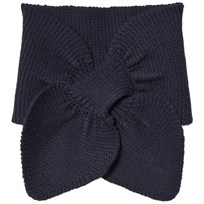 Wheat Knitted Baby Scarf Navy Navy